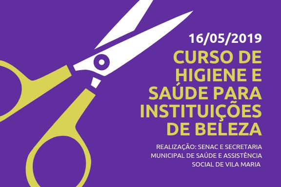Curso de Higiene e Saúde para Instituições de Beleza