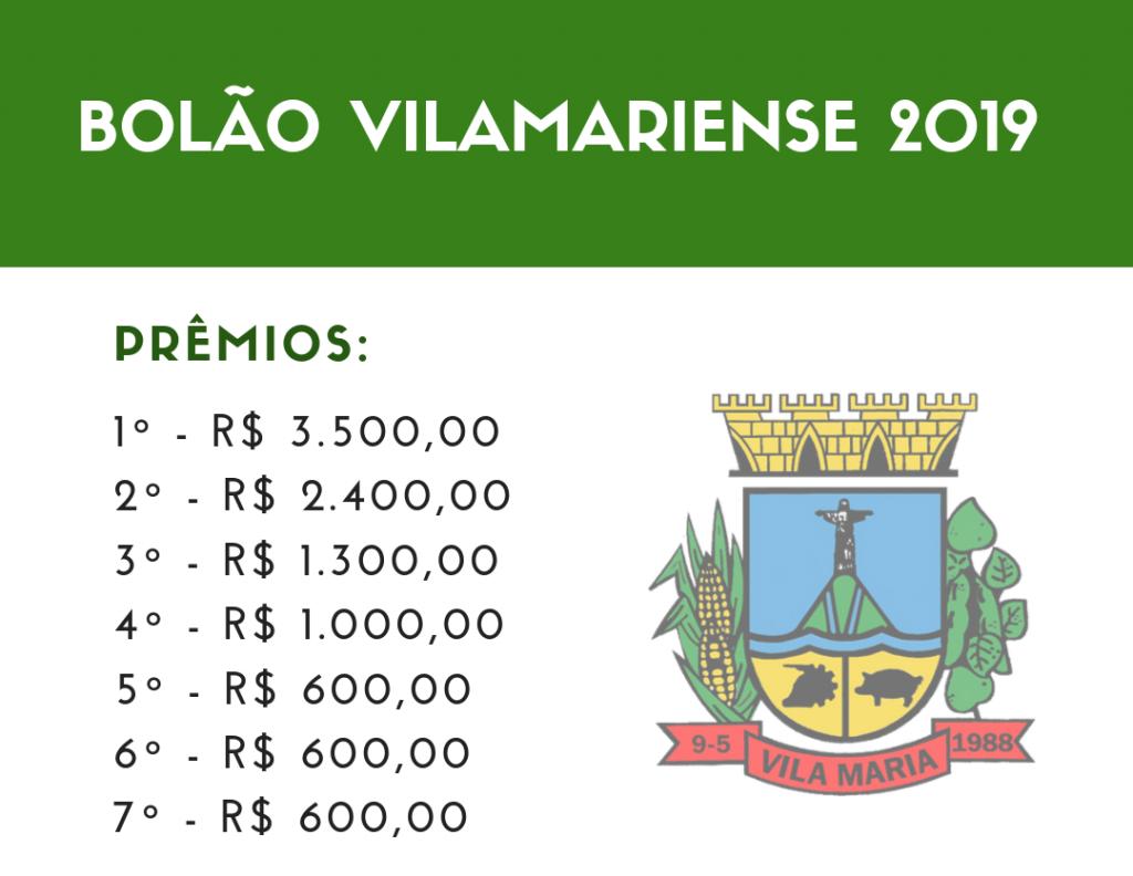 Aberto período para troca de notas fiscais por cautelas do Bolão Vilamariense