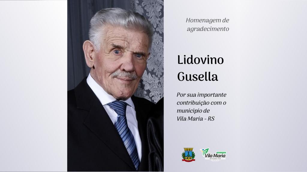 Homenagem de agradecimento à Lidovino Gusella