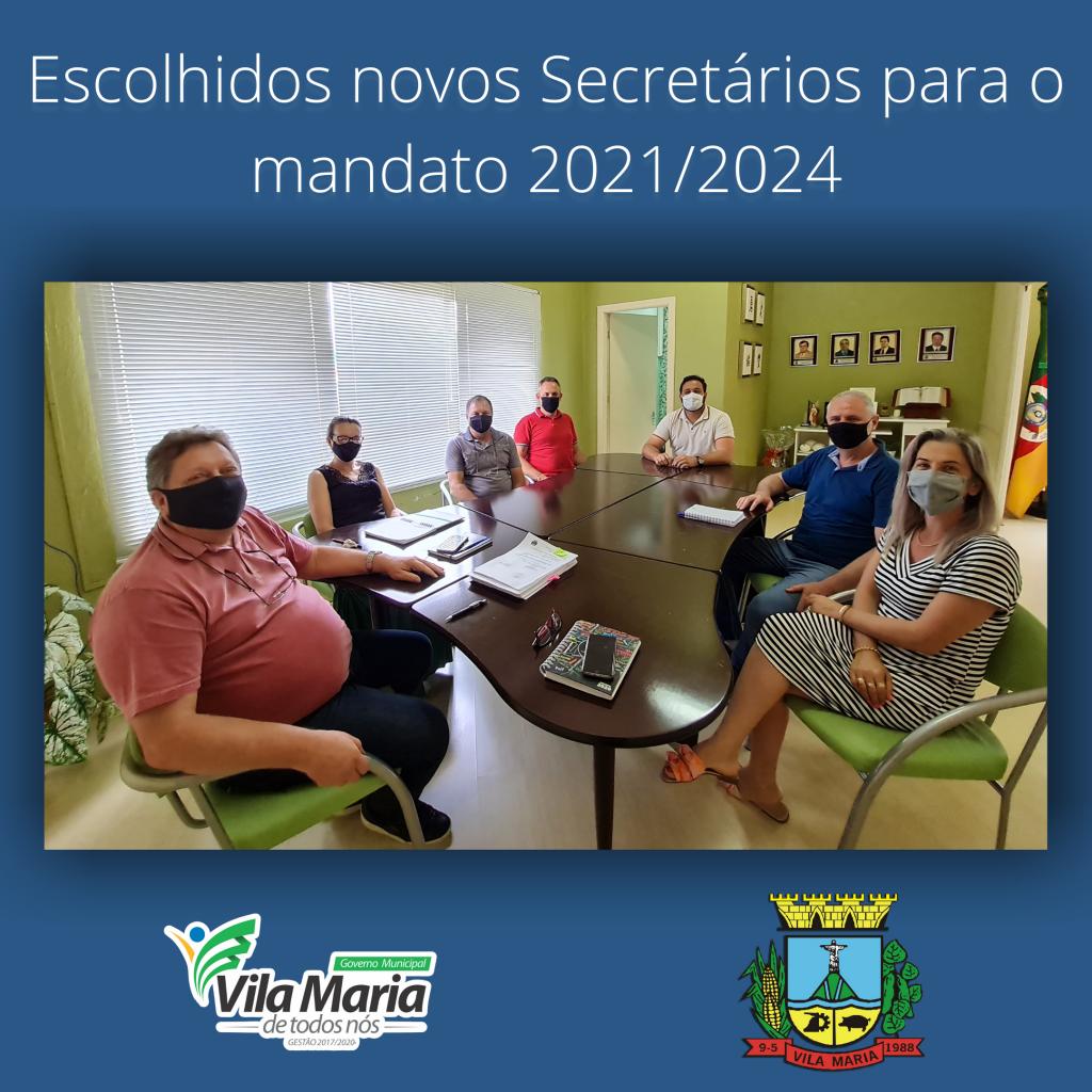 Imagem 1 - Escolhidos os novos Secretários para o mandato 2021/2024