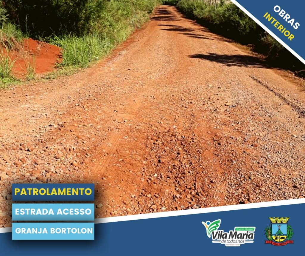 Imagem 6 - ATIVIDADES DA SECRETARIA DE OBRAS E VIAÇÃO NO INTERIOR DO MUNICÍPIO