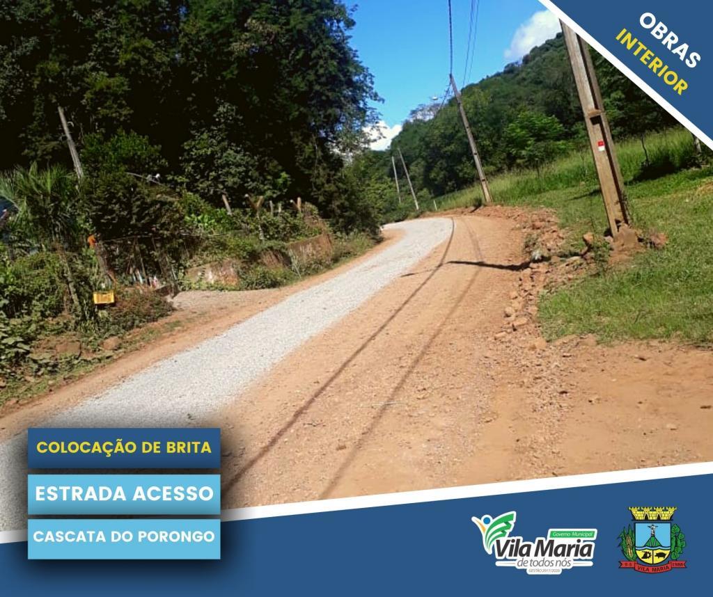 Imagem 11 - ATIVIDADES DA SECRETARIA DE OBRAS E VIAÇÃO NO INTERIOR DO MUNICÍPIO