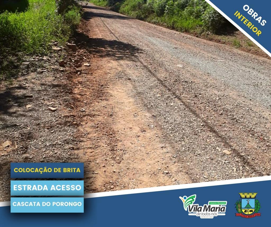 Imagem 10 - ATIVIDADES DA SECRETARIA DE OBRAS E VIAÇÃO NO INTERIOR DO MUNICÍPIO