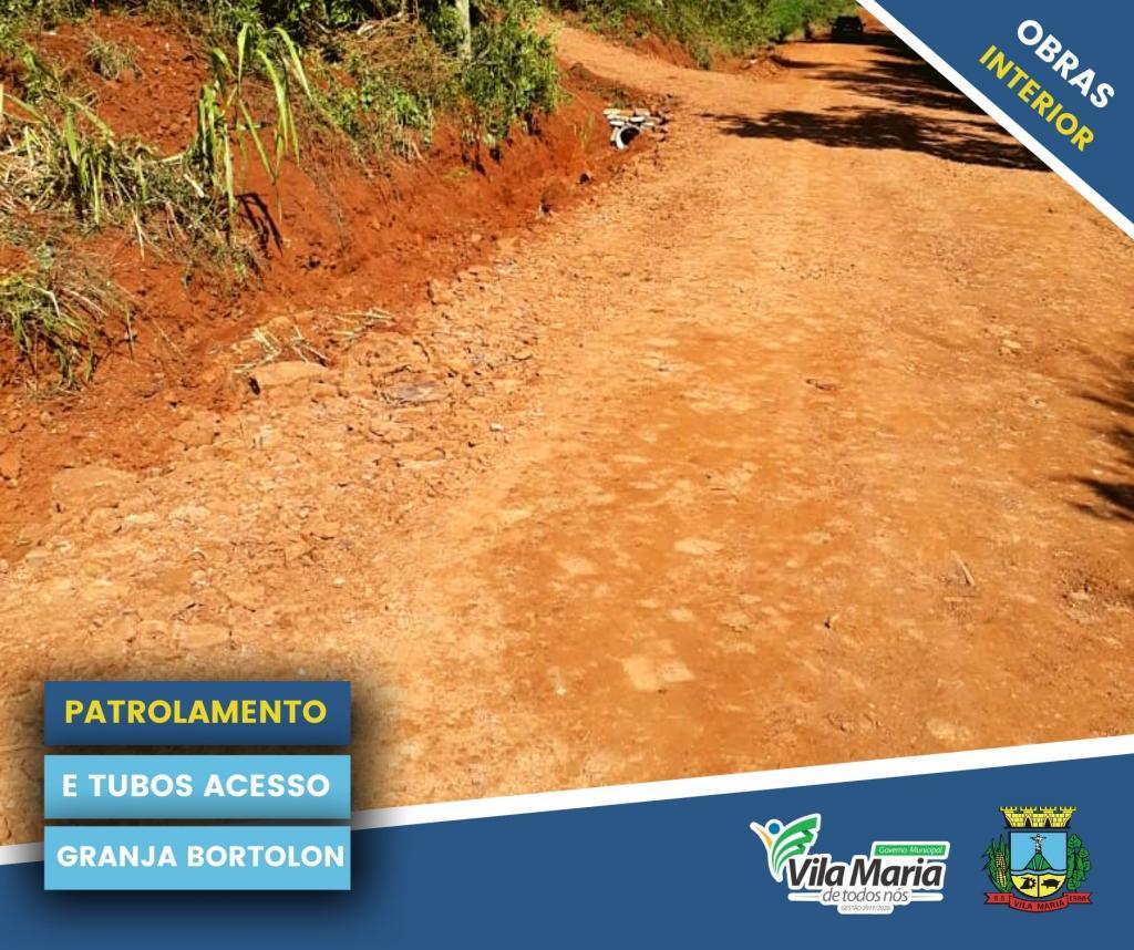 Imagem 5 - ATIVIDADES DA SECRETARIA DE OBRAS E VIAÇÃO NO INTERIOR DO MUNICÍPIO