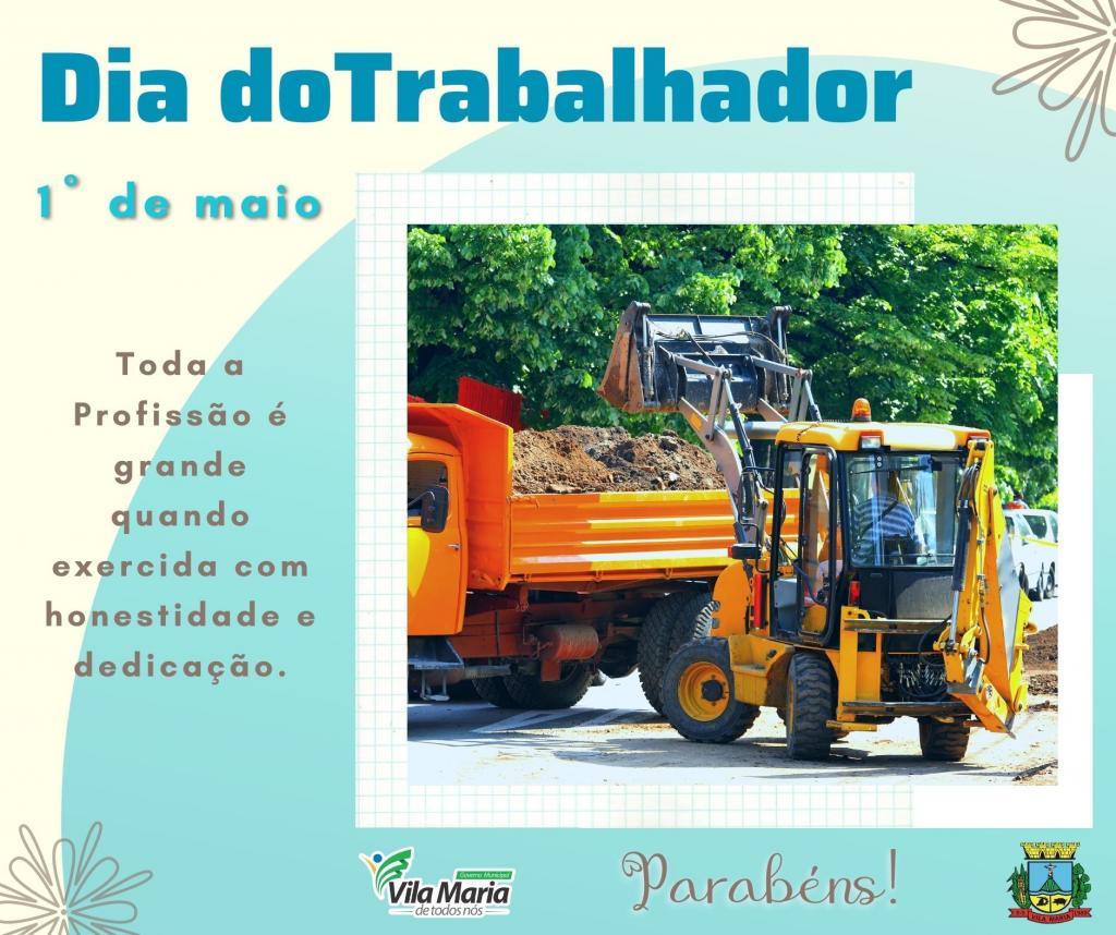 Imagem 1 - 1º DE MAIO DIA DO TRABALHADOR