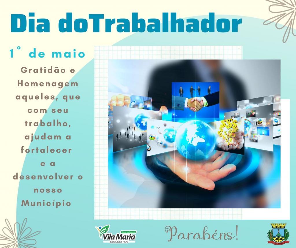 1º DE MAIO DIA DO TRABALHADOR