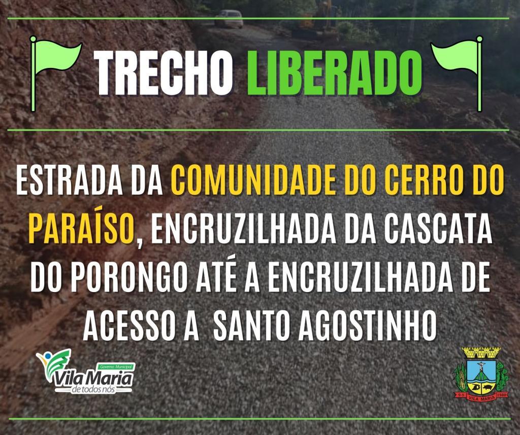 Imagem 1 - ATENÇÃO: TRECHO LIBERADO